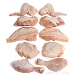 CHICKEN  CUT (SMALL PIECE)   Produce of Brazil.Slaughtered by islamic way  (package and small cut gunma.japan)l
